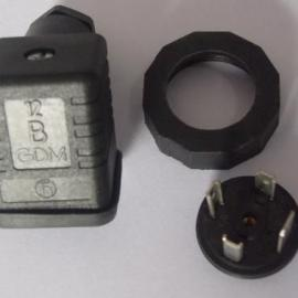 德国hirschmann赫斯曼电磁阀插头和传感器插头圆形底座