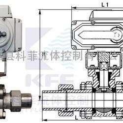 Q961F电动带卡套对焊球阀、电动外螺纹球阀