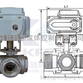 Q915F电动三通球阀、电动T型三通球阀、电动L型三通球阀