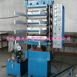 青岛四柱橡胶地砖硫化机,高效率橡胶地砖生产设备
