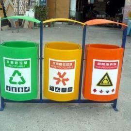 LF-E019三分类玻璃钢垃圾桶 厂家批发玻璃钢分类果皮箱