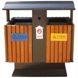分类钢木垃圾桶 东莞长安分类垃圾桶 物业钢木垃圾桶