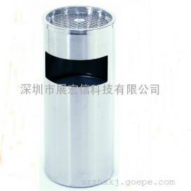 供应圆形丽格桶 不锈钢座地垃圾桶 时尚办公带烟灰缸垃圾桶