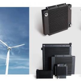 杰盛铝制板翅式风力发电设备散热器