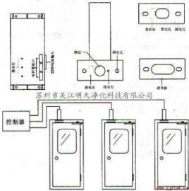 三门电子联锁,电子互锁,电控锁
