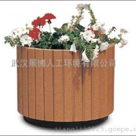 木质楼盘花盆