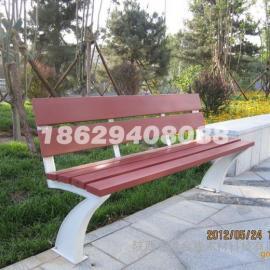 塑木户外公园椅