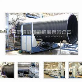 HDPE双平壁塑钢缠绕管设备/青岛精科塑机