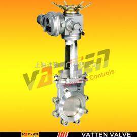 VTDZF电动刀型闸阀,电动对夹刀闸阀