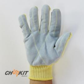 杜邦贴皮 防切割手套 耐磨防割抗刺穿隔热牛皮手套