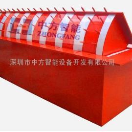 翻板式液压路障机