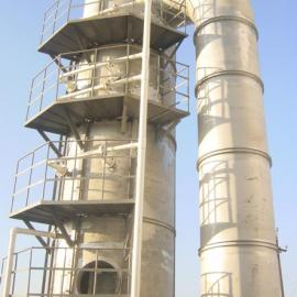 2×10T/h燃煤锅炉烟气共用一台脱硫塔脱硫