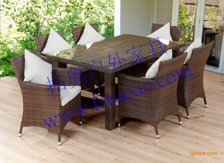 藤桌椅-a201型号户外休闲藤桌椅图片