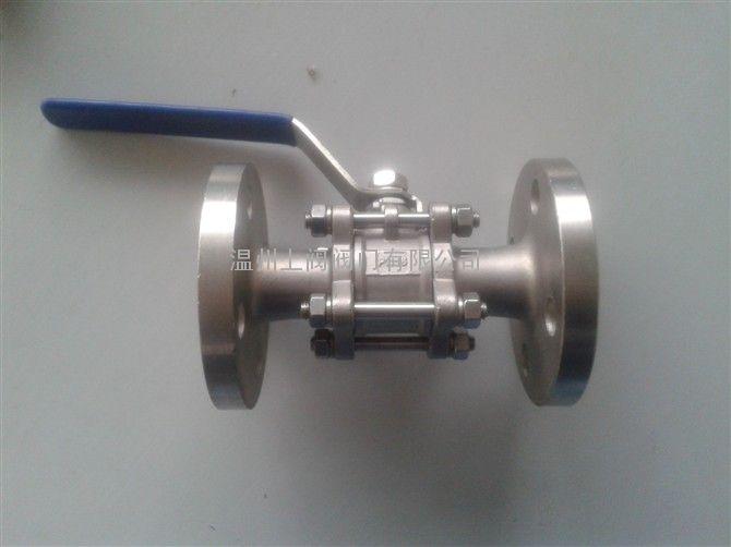 不锈钢三片式法兰球阀 q41f-16p  三片式法兰球阀图片