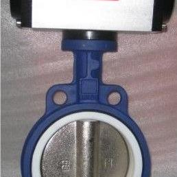 D671J对夹式气动脱硫衬氟蝶阀