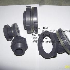 DN32水箱接头,1.2寸PVC螺纹接口