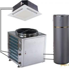 热水空调两用热泵 供冷气的热水器 供厨房冷气热泵热水器