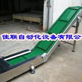 广州大倾角皮带输送机,波状挡边输送机