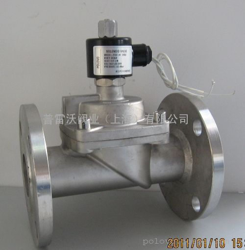 不锈钢法兰蒸汽电磁阀图片