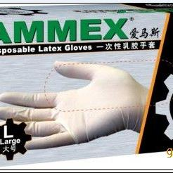 Ammex 爱马斯  一次性PVC手套(无粉)/