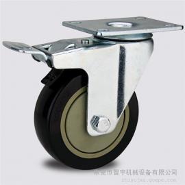 4寸平板定向脚轮&4寸平板万向脚轮批发@平板脚轮东莞厂家