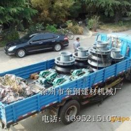 六台机械化石灰窑旋转布料器发往山东章丘