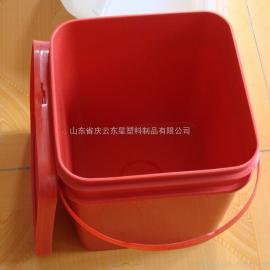 15L大口方形塑料桶注塑塑料桶