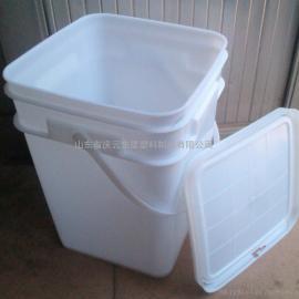 20L方形塑料桶大口圆形防盗桶