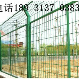 郑州护栏网-围山浸塑护栏网-包塑菱形铁丝网