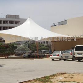 PVDF张拉膜工程/膜结构展览帐篷/索膜工程