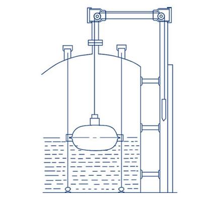 浮标式钢带液位计