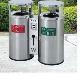 苏州不锈钢垃圾桶|苏州户外分类不锈钢垃圾桶