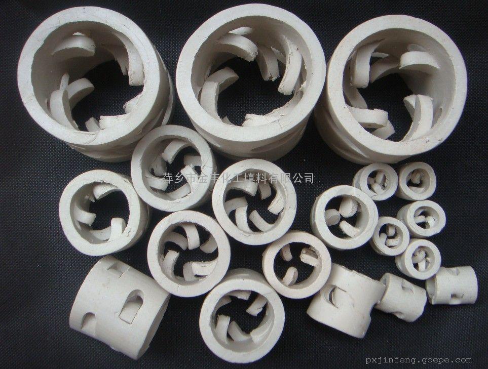瓷环填料_供应陶瓷鲍尔环陶瓷化工环保填料