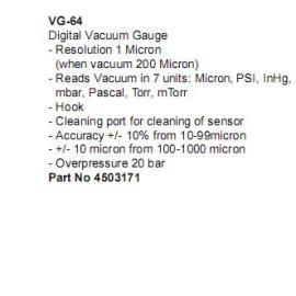 威科VG-64数字式真空表