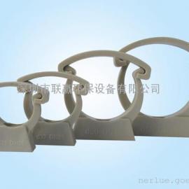 Nerlue-海特斯 黑色/米白色 PP塑料管卡 管夹