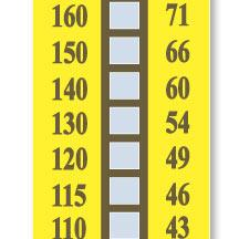 TL-10十格温度标签|美国omega十格不可逆温度标签