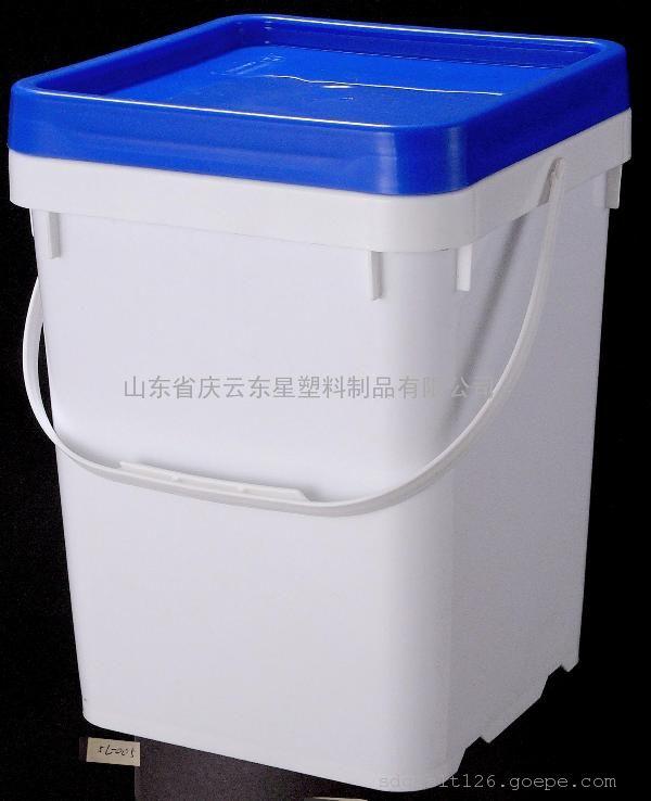 10L方形塑料桶10公斤大口提手塑料桶