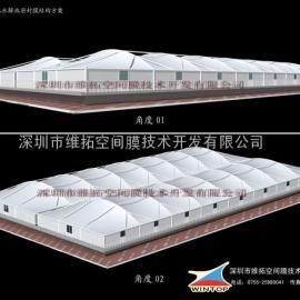江苏污水池加盖工程、江苏膜结构集气罩工程