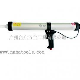 台湾NAMA腊肠装气动玻璃胶枪、气动打玻璃胶枪