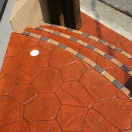 拜石彩色压模混凝土地坪-南京压模路面,整体铺装