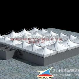 浙江制衣厂污水池加盖膜结构除臭设计与安装