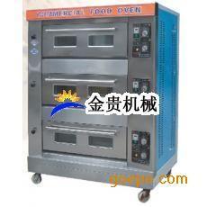 三层六盘燃气烤箱 大型糕点烤箱价格 月饼烤箱