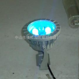 七彩低压LED投光灯 景观照明LED聚光灯 防水耐用