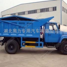 东风140自卸式液压密封垃圾车 东风尖头液压前翻盖垃圾车
