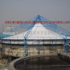 惠州工业园污水池加盖工程/膜结构加盖除臭厂家