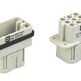 供应24针哈丁连接器 哈丁热流道插座 哈丁接插件