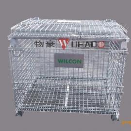 服装专用物流框 金属仓储笼 零件周转笼