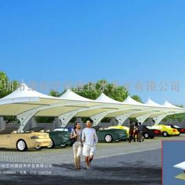 深圳地税局职工停车场膜结构车棚工程