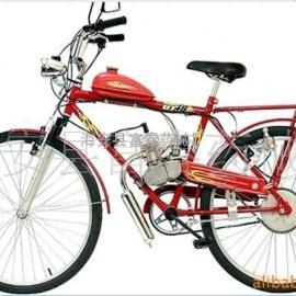 自行车改装80CC 混合动力 发动机