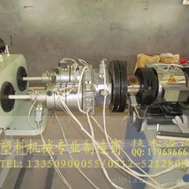 PVC一出双穿线管材挤出机生产线设备价格|一模双出管材机械
